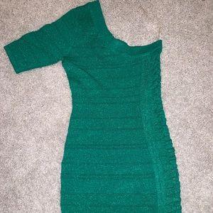 Sparkling green dress